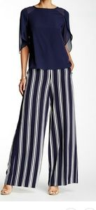 1.state striped wide leg pant in blue